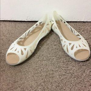 Crocs peep toe sandals